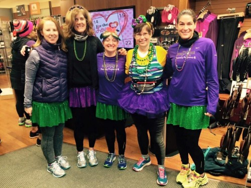 We bring fun to the long run: Mardi Gras meets Cherry Blossom 2015 Training (photo courtesy of Laurentina Photography)