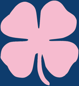 Pink and Blue Clover