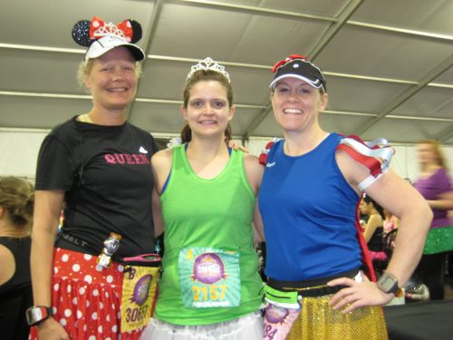 Ladies from the PR Distance Training Program at the 2013 Princess Half Marathon at Walt Disney World